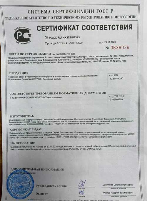 Модел Фит сертификат соответствия